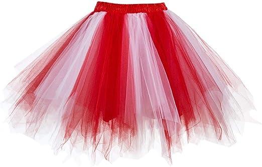 Mujeres Faldas Enaguas Cortas Tul Plisada Fiesta Tutu Ballet Mini ...