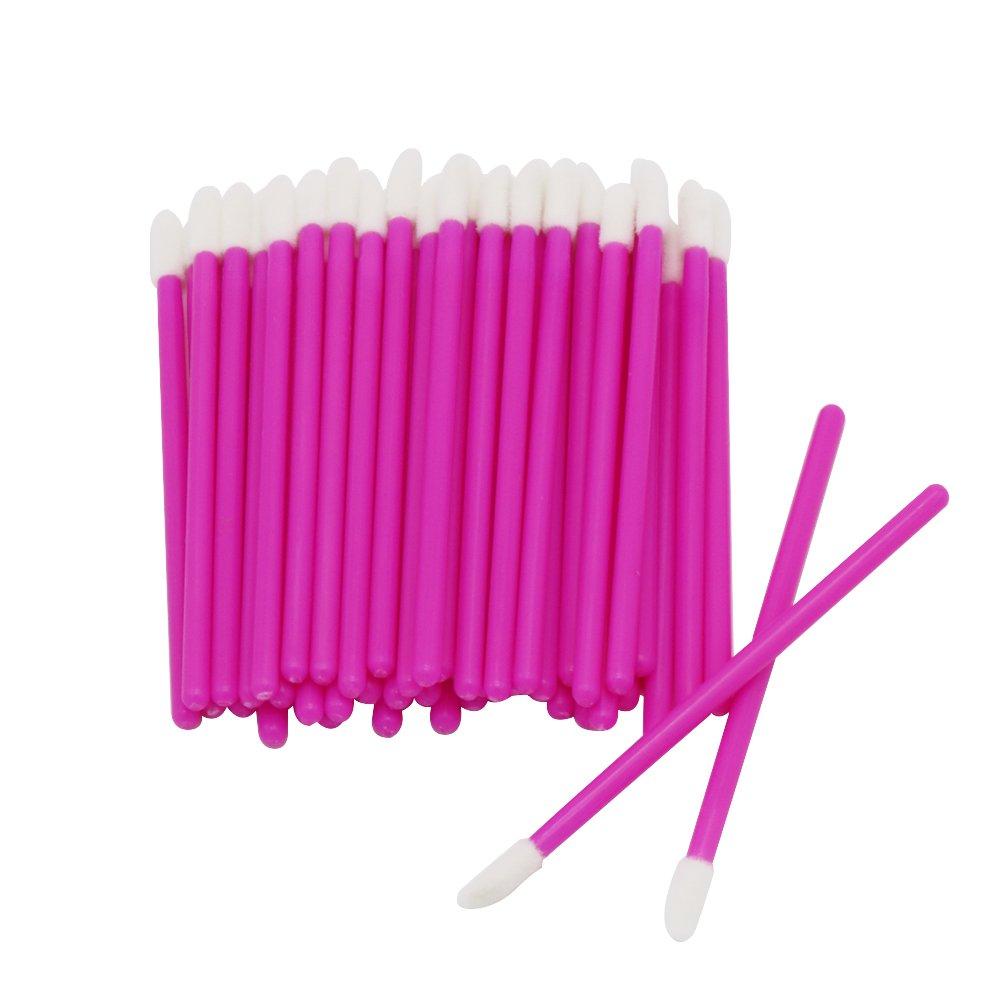 Shintop Disposable Lip Brushes, 200pcs Lipstick Gloss Wands Applicator Perfect Make Up Tool Kits (Rose) HuaRuiXing