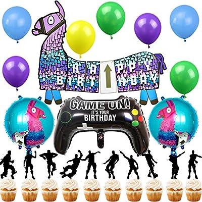 Shine Party Juego de Suministros para Fiestas de Videojuegos ...
