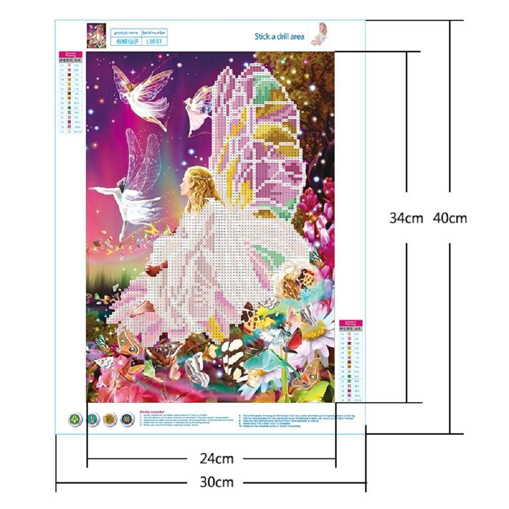 Artec360 DIY 5D Diamond Painting Kits Crystal Rhinestone 30x40cm Full Drill Diamond Embroidery Paintings Pictures Arts Craft for Home Wall Decor Extra 30/% Diamonds Elf