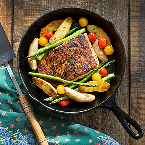 Simple Chef Cast Iron Skillet 3-Piece Set - Best Heavy-Duty Professional Restaurant Chef Quality Pre-Seasoned Pan Cookware Set - 10'', 8'', 6'' Pans - Great For Frying, Saute, Cooking, Pizza & More,Black by Simple Chef (Image #5)