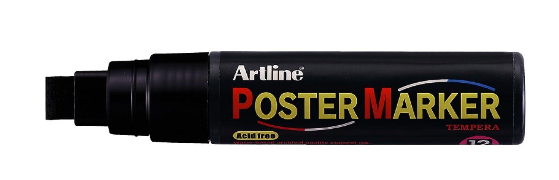 Artline Póster 12 mm punta biselada Negro Negro Negro (6 unidades) 03bc18