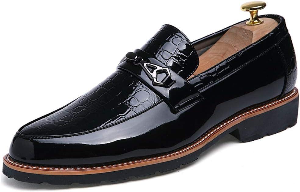 M Color : Black, Size : 6.5 D US Zhukeke Mens Casual Business Oxfords Flat Heel Slip On Loafer Leisure Dress Shoes Wear-Resistant