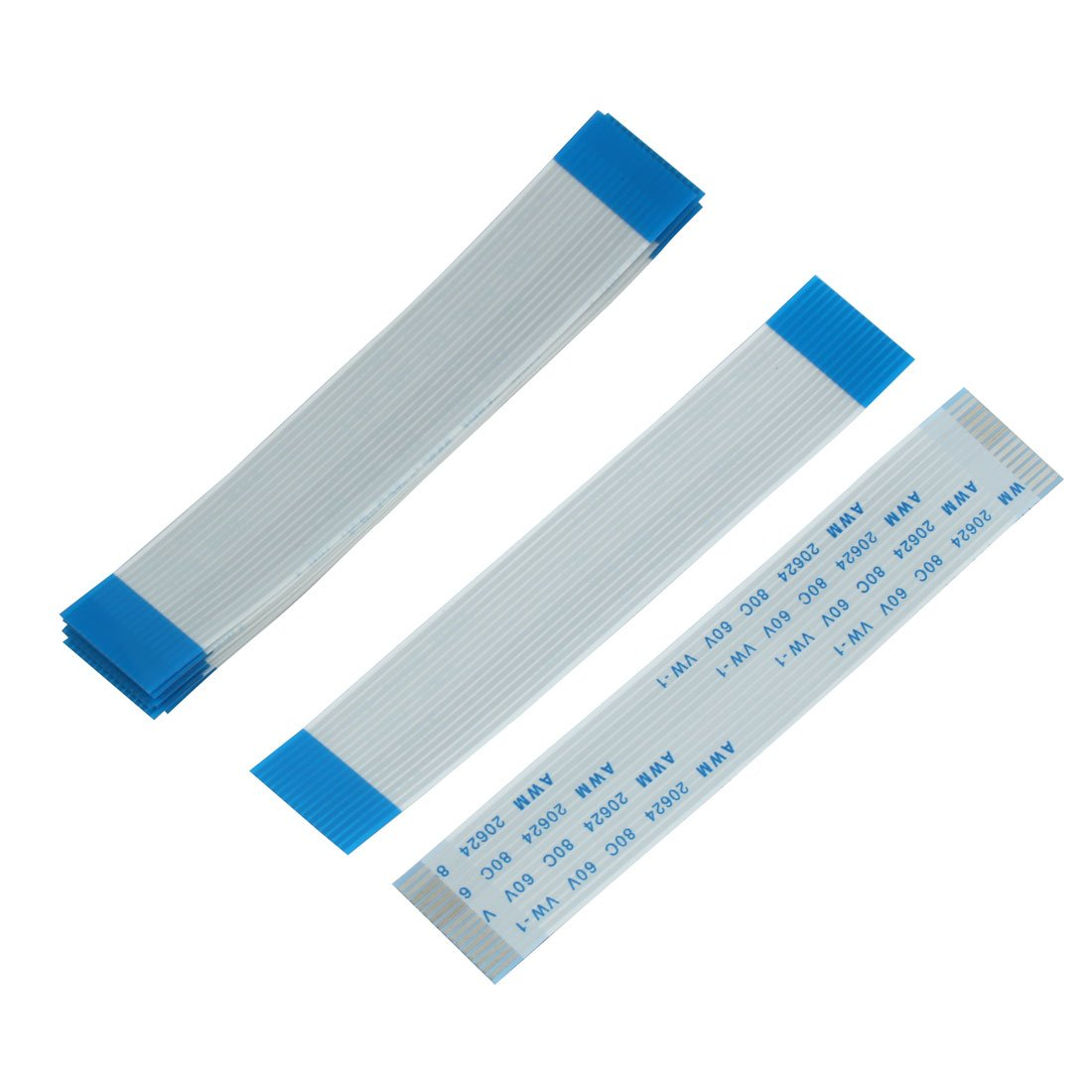 sourcingmap® 1.0mm Spacing 15Pin Flexible Flat Ribbon Cable FPC FFC Wire 90mm 10pcs a15072900ux1650