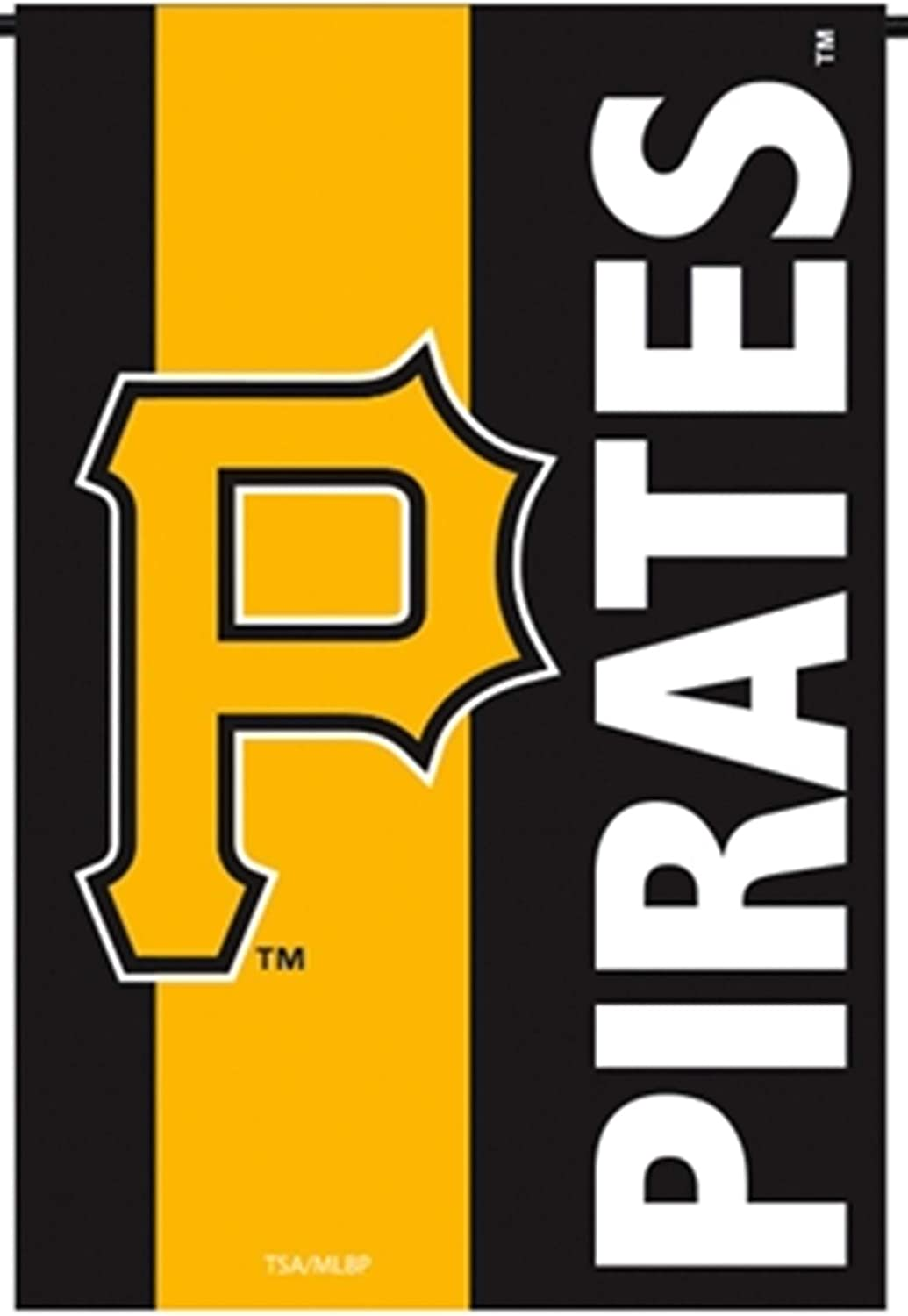 Rico Industries, Inc. Pittsburgh Pirates Embellished Premium 2-Sided Garden Flag Applique Banner