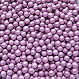 Quality Sprinkles All Natural Gluten free, Nuts & Dairy free, shimmer Purple NonPareils 2 lbs bag.