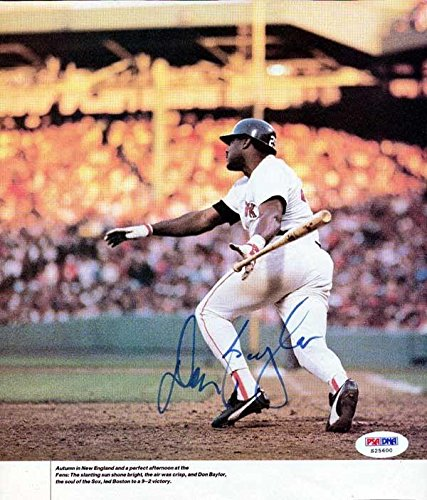 Don Baylor Autographed Signed 8x9.5 Magazine Page Photo Red Sox #S25600 PSA/DNA Certified Autographed MLB Magazines