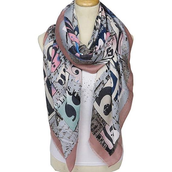 b313598dd1e LIULIFE Foulard De Mode Pour Dames Lettre Satin Foulard Printemps été Chaud  Vêtements Châle