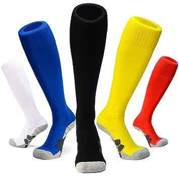 J&T Calcetines de Fútbol Deportes al Aire Libre de Medias de compresión de Fútbol Mujeres/Hombre Niños/Niñas para Baloncesto,Lacrosse,Rugby, Hockey& ...