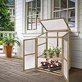KCHEX>Garden Portable Wooden Greenhouse Cold