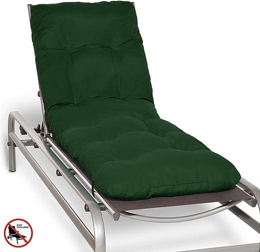 Beautissu Cojín colchón Flair RL Acolchado para Tumbona de jardín y Playa 190x60x8cm Copos de gomaespuma - Verde Oscuro Elegir: Amazon.es: Hogar