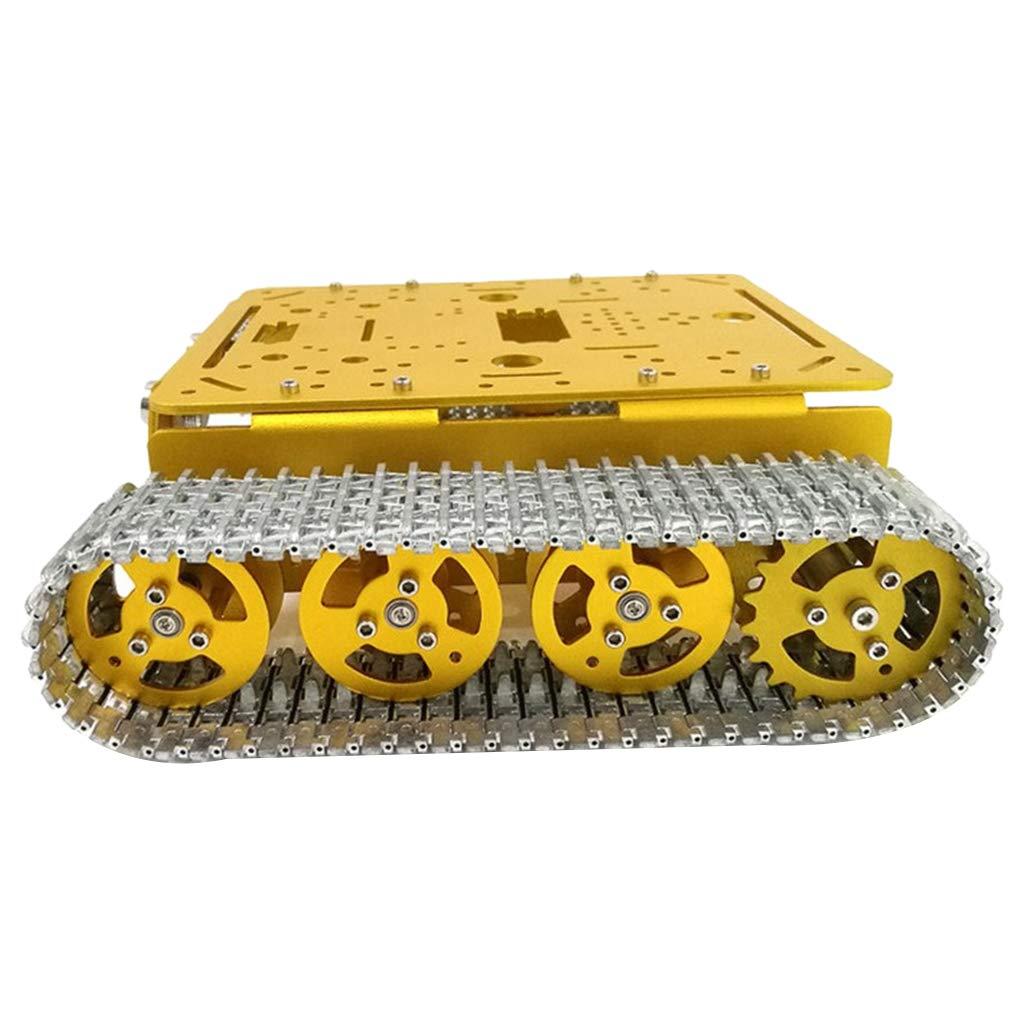 12V mit Ecoding Disk KESOTO Intelligenter Raupenfahrwerk Panzer Dämpfung Chassis Geburtstags Geschenk für Kinder, Ideal um Arduino DIY zu Lernen - 12V mit Ecoding Disk
