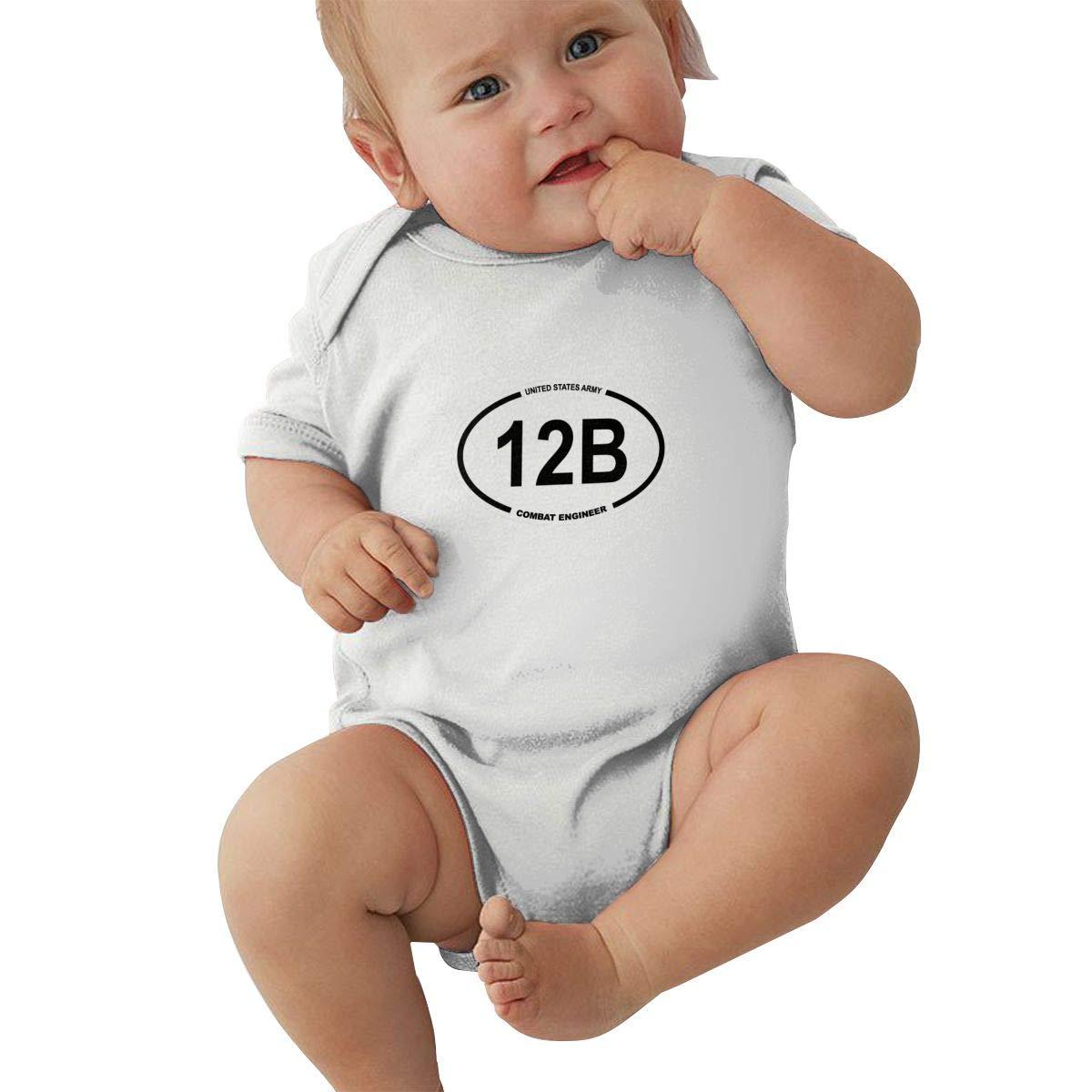 Us Army Mos 12b Combat Retro Newborn Baby Short Sleeve Bodysuit Romper Infant Summer Clothing Black