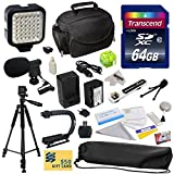 Advanced Accessory Kit for Panasonic HC-V700, HC-V700M, HC-V500, HC-V500M, HC-V100, HC-V100M, HC-V10 Video Camera Camcorder Includes 64GB High Speed Memory Card + Card Reader + Power2000 VW-VBK180 2000mAh Ultra High Capacity Li-ion Battery + Battery Charg