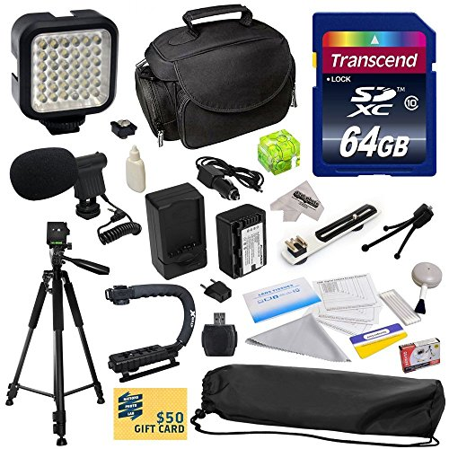 Advanced Accessory Kit for Panasonic HC-V700, HC-V700M, HC-V500, HC-V500M, HC-V100, HC-V100M, HC-V10 Video Camera Camcorder Includes 64GB High Speed Memory Card + Card Reader + Power2000 VW-VBK180 2000mAh Ultra High Capacity Li-ion Battery + Battery Charg by 47th Street Photo