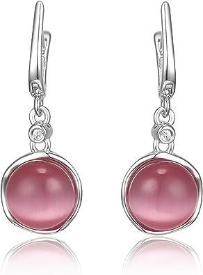 925 Sterling Silver Rhodium-plated Polished Heart /& Key Dangle Earrings