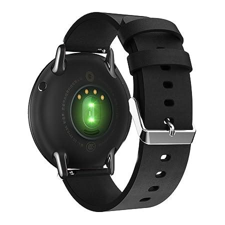 Correa de repuesto para reloj inteligente de 22 mm, fabricada con piel auténtica para Gear S3, Moto 360 (46 mm), Ticwatch 1 ND, Asus Zenwatch, LG G y ...
