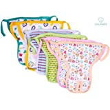 Nappy Pads for Babies - Set of 6 Pcs/Hosiery Cotton Diapers for Babies/Langot for Baby # 6-12 months # Nappy Pads For New Born Baby # Assorted Designs # Washable and Reusable # Pack of 6 by Dolphers