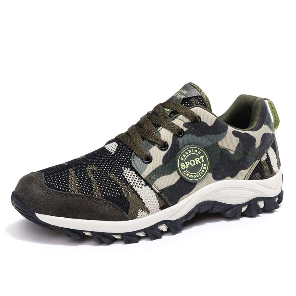 Mesh Running Shoes Men Women,Mosunx Athletic 【Couple Camouflage Sneakers】Boys Girls Lightweight Breathable Lace Up Arch Support Casual Walking Shoes (9.5 M US, Camouflage)