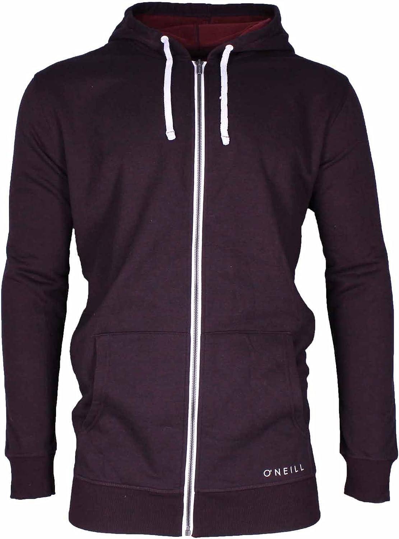 ONEILL mens Sherpa Lined Full Zip Hooded Fleece Sweatshirt Jacket