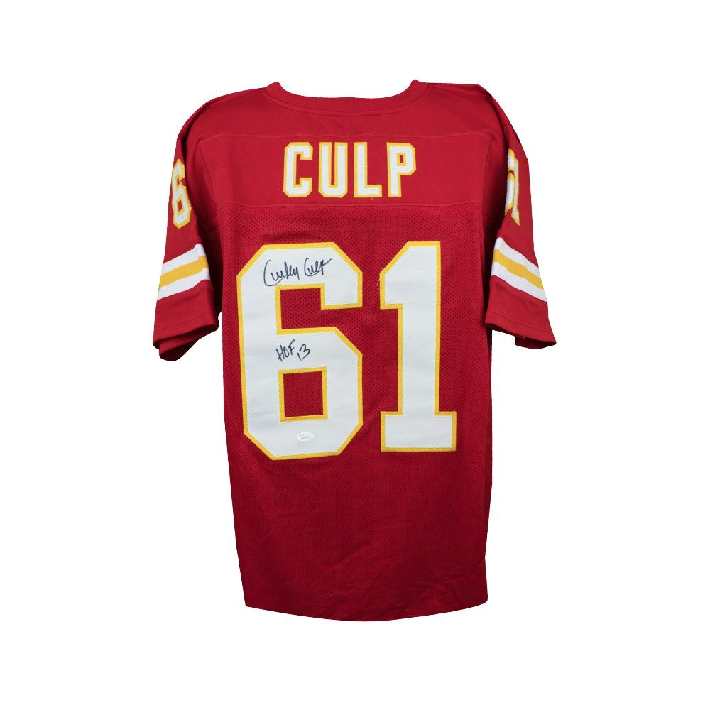 5aad2a79 Curley Culp HOF Autographed Kansas City Chiefs Custom Red Football ...