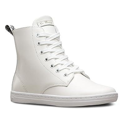Dr. Martens Leyton 7-Eye Boot Womens White T Lamper U550509QK Boots