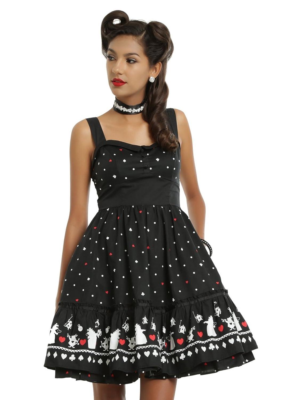 Vintage Retro Halloween Themed Clothing Disney Alice In Wonderland Red Queen Retro Dress $63.90 AT vintagedancer.com