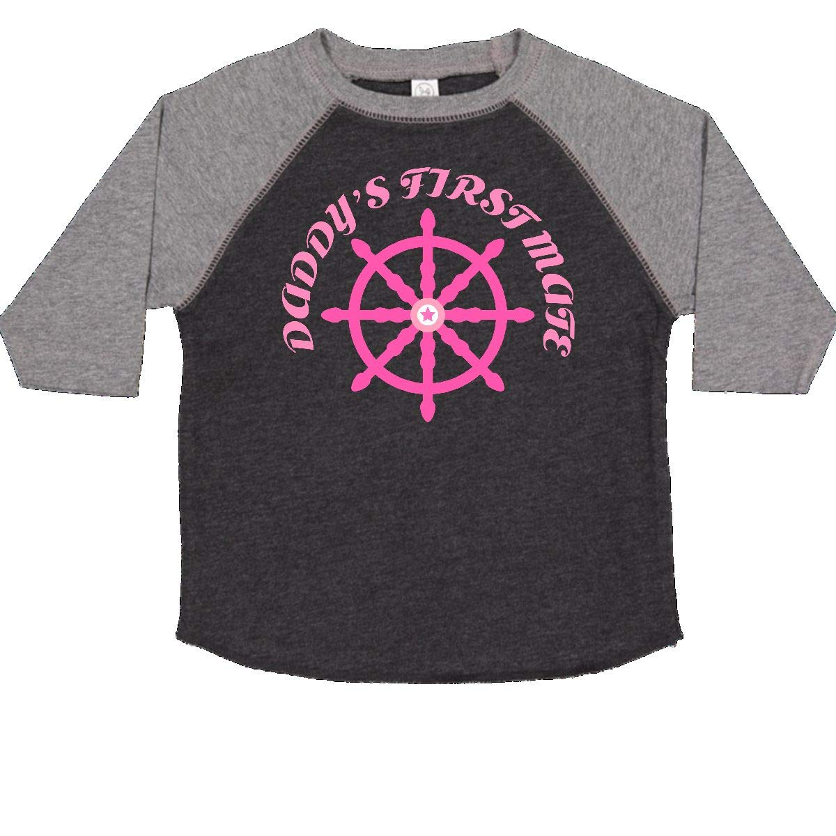 inktastic Daddys First Mate Nautical Sailing Girls Toddler T-Shirt