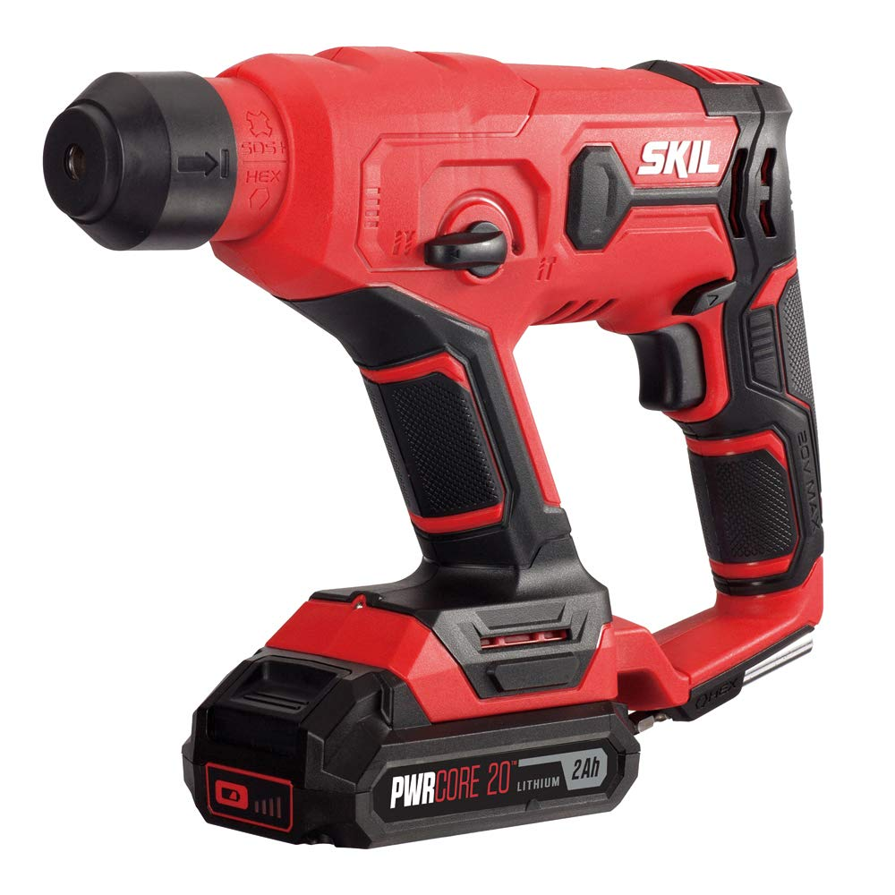 SKIL 20V SDS-plus Rotary Hammer, Includes 2.0Ah Pwrcore 20 Lithium Battery & Charger - RH170202 by Skil (Image #1)