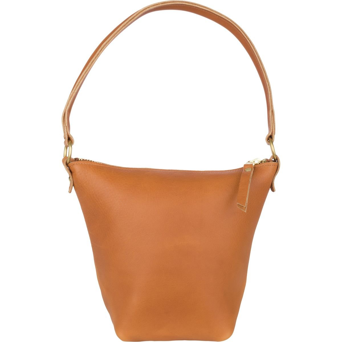 Wood and Faulk Field Bag Purse - Women's Fawn Leather, One Size by Wood and Faulk