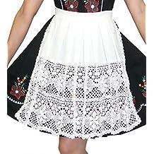 "German White Lace Apron for Dirndl (22"" (US size 18-26))"
