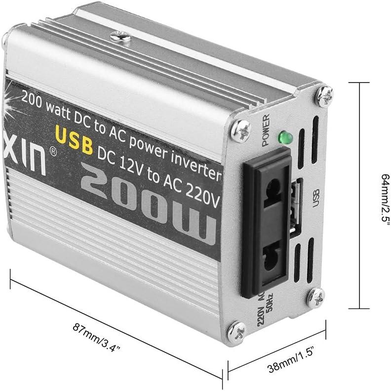 Convertitore auto corrente alternata uscita adattatore universale da viaggio corrente continua a 200V 220/W con USB 5/V trasformatore da 12/V
