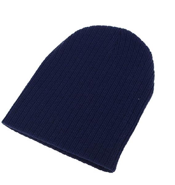 (Blu) Cappellino Per Bambini Semplice Lavorazione A Maglia Neonati Berretto  Idea Regalo Per Bambino Bambina Unisex  Amazon.it  Abbigliamento faa24fe8f738