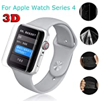 Liqiqi Hydrogel Film for Apple Watch Series 4 44mm Screen Protector - Slim Full Cover Explosion-proof Protection Film for Apple Watch Series 4 44mm