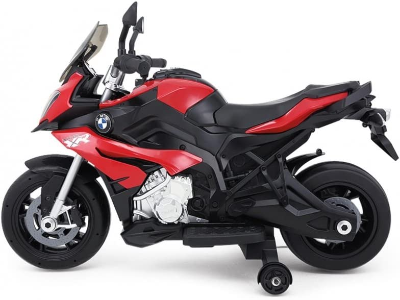 RunRunToys Moto BMW Eléctrica 12V Recomendada a Partir +3 Años con Luces y Entrada para Música, Color Rojo (Herrajes Multimec 4019): Amazon.es: Juguetes y juegos