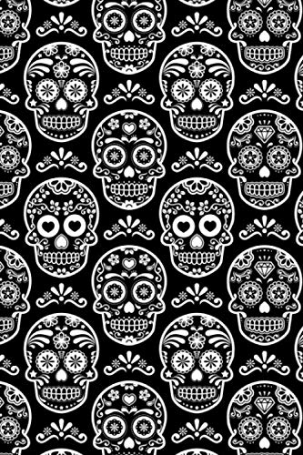 Day Of The Dead Pattern - Sugar Skull Santa Muerte 19: Blank Sketch Paper Notebook with frame for Day Of The Dead Lovers]()