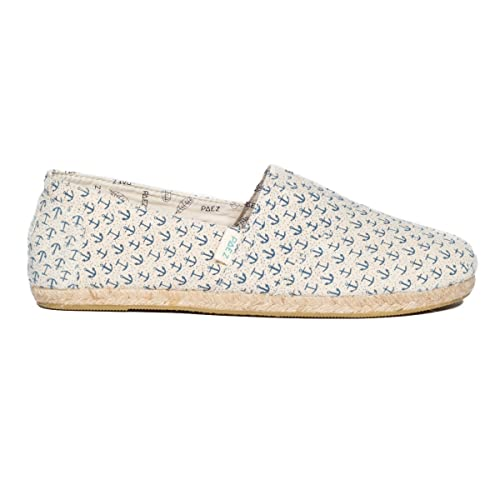 Womens Original-Print Raw Anchors Blue Espadrilles, Various Paez