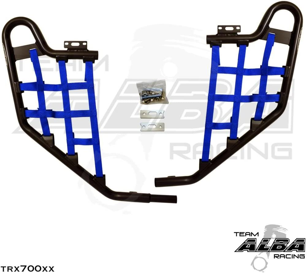 Compatible with Honda Standard Nerf Bars Black w//Blue Net TRX 700XX 2008-2009