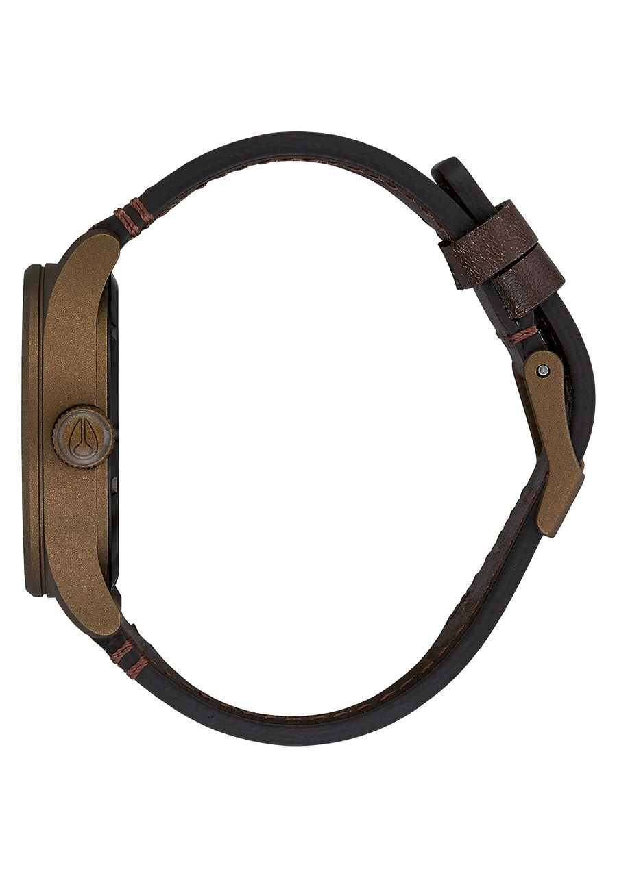 Nixon Sentry Leather Watch Bronze Cerakote Brown by NIXON (Image #2)