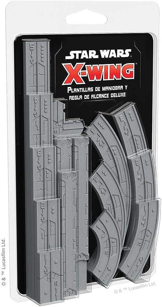 Fantasy Flight Games- SW X-Wing 2.0 - Plantillas de maniobra y Regla de Alcance Deluxe, Color (SWZ46ES): Amazon.es: Juguetes y juegos