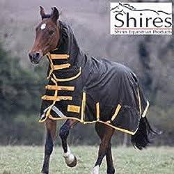 "Shires Stormbreaker 1200 Denier Sheet - High Neck, Black/Hunter Orange, US 84"""