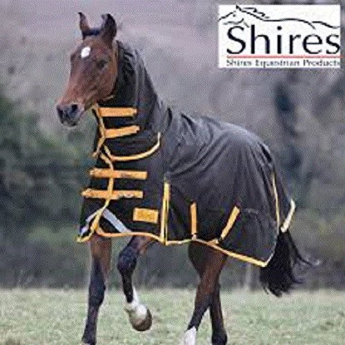 Shires Stormbreaker 1200 Denier Sheet - High Neck, Black/Hunter Orange, US 84'' by StormBreaker