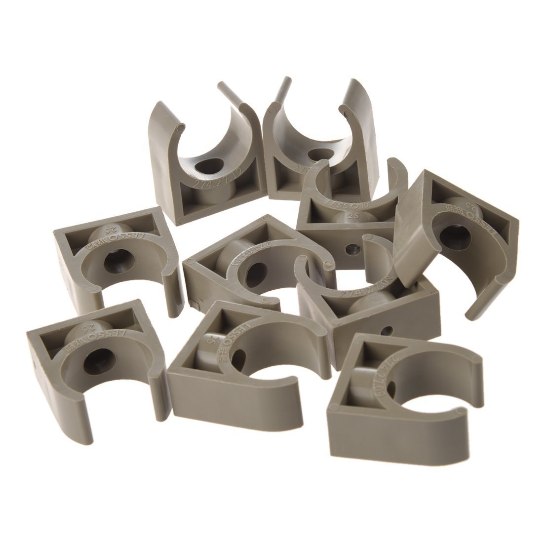 SODIAL(R) 10 Pcs 25mm Diameter PPR Water Supply Pipe Clamps Clips Fittings