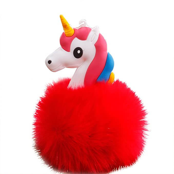 Amazon.com: Little rock Cute Plush Ball Unicorn Keyring Key Chain Keyring Handbag Car Decoration: Clothing