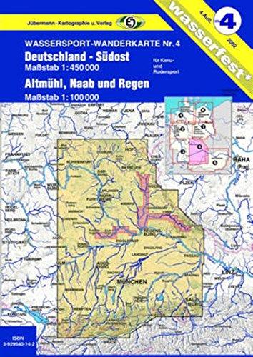 Wassersport-Wanderkarte / Kanu-und Rudersportgewässer: Jübermann Wassersport-Wanderkarten, Bl.4, Deutschland-Südost