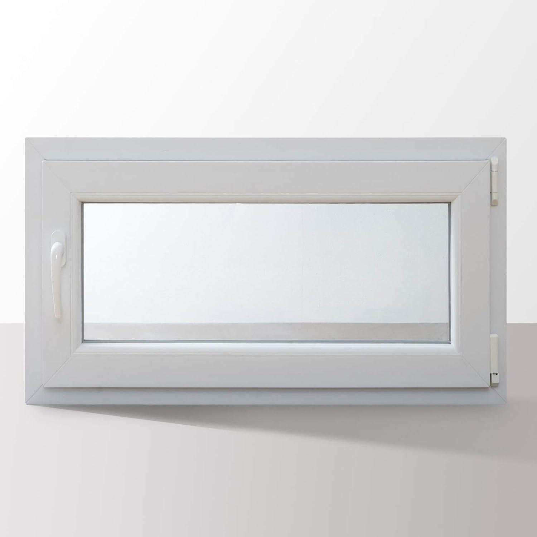 L/änge x Breite au/ßen anthrazit I DIN links I 800 x 800 mm HORI/® Dreh-Kipp Kunststoff-Fenster I 2-fach verglast I innen wei/ß