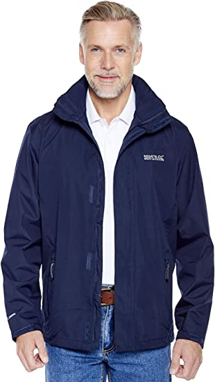 Regatta Mens Matt Waterproof Mesh Lined Hooded Shell Jacket