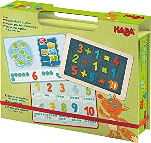 Magnetic Game Box Numbers - 1 2 3 Numbers & You - 158 Magnetic Pieces in Travel Cardboard Carrying Case