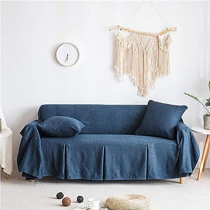Peachy Lanqinglv Navy Blue Sofa Slipcover 200X260Cm Cotton Linen Pdpeps Interior Chair Design Pdpepsorg