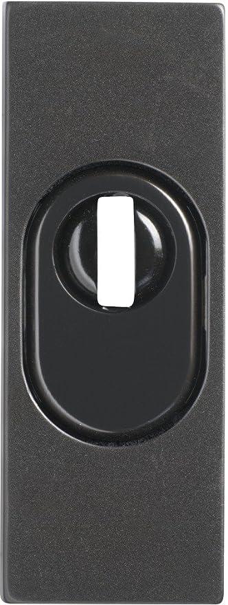 Abus 09403 RSZS316 B7 SB - Embellecedor de cerradura con perfil para bombín para puertas metálicas